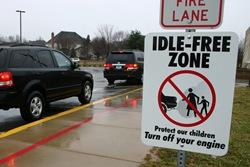 idle-free school zone